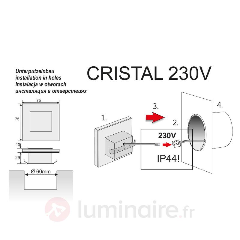 Charmante applique LED Cristal IP44 - Appliques LED