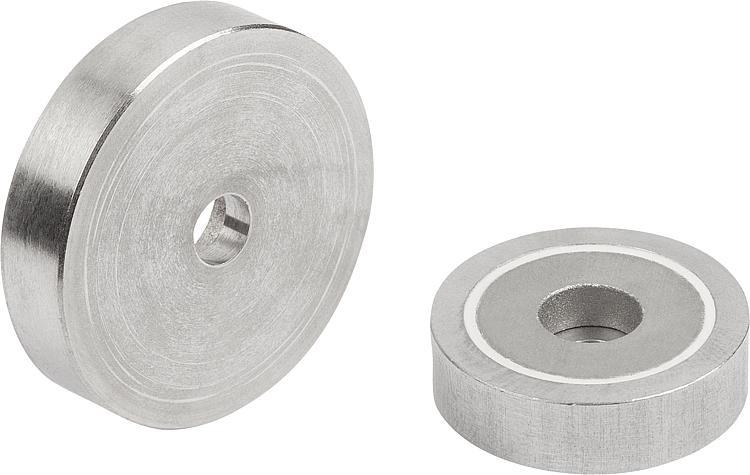 Magnets Shallow Pot With Counterbore Smco With Stainless-steel... - Magnets