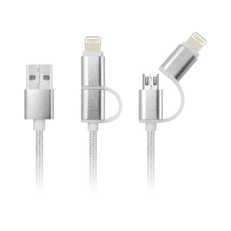 Cable Nylon 2 en 1 - Câbles USB Originaux
