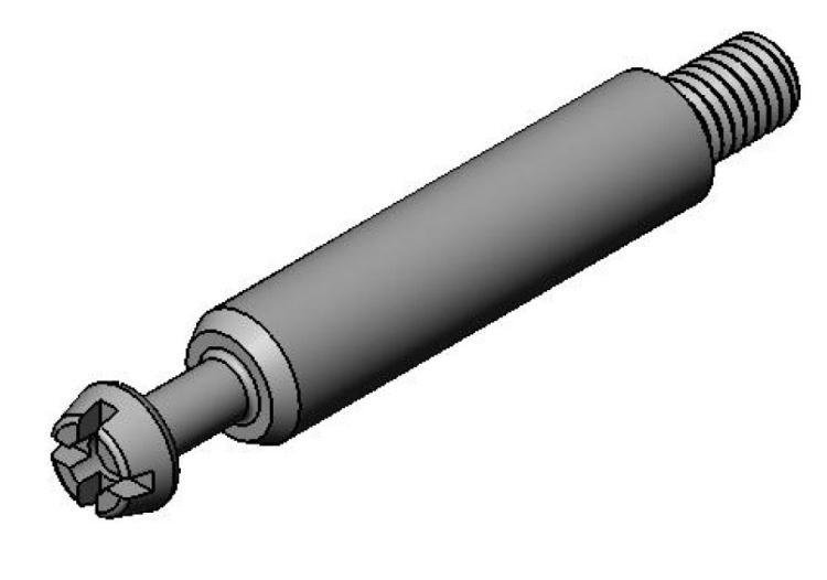 Bolzen Supramax M6 - Stahl gedreht - hell verzinkt - Bolzen (Exzenter)