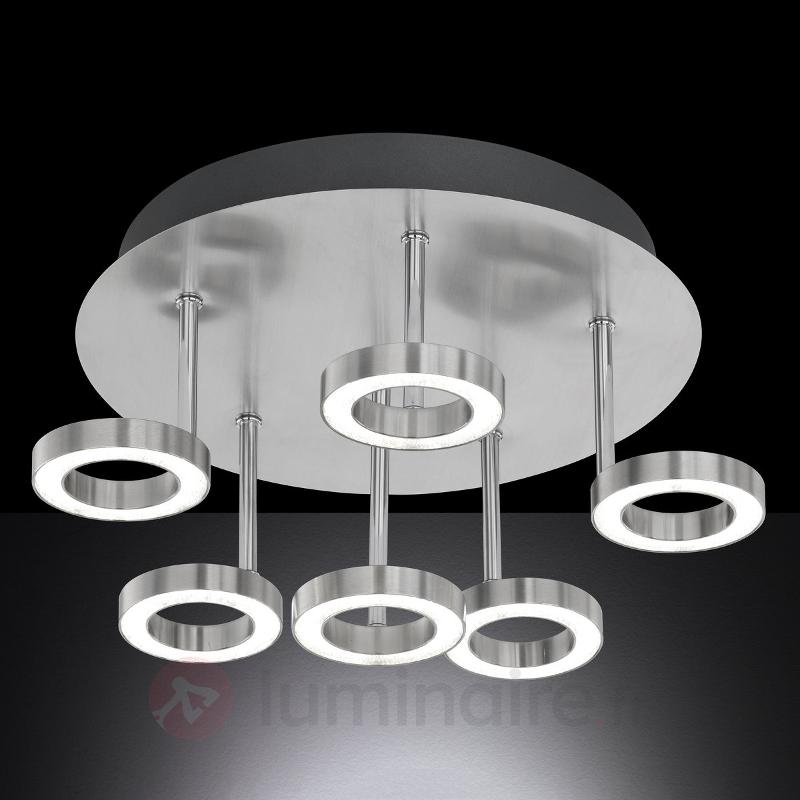 Impressionnant plafonnier LED Naomi - Plafonniers chromés/nickel/inox