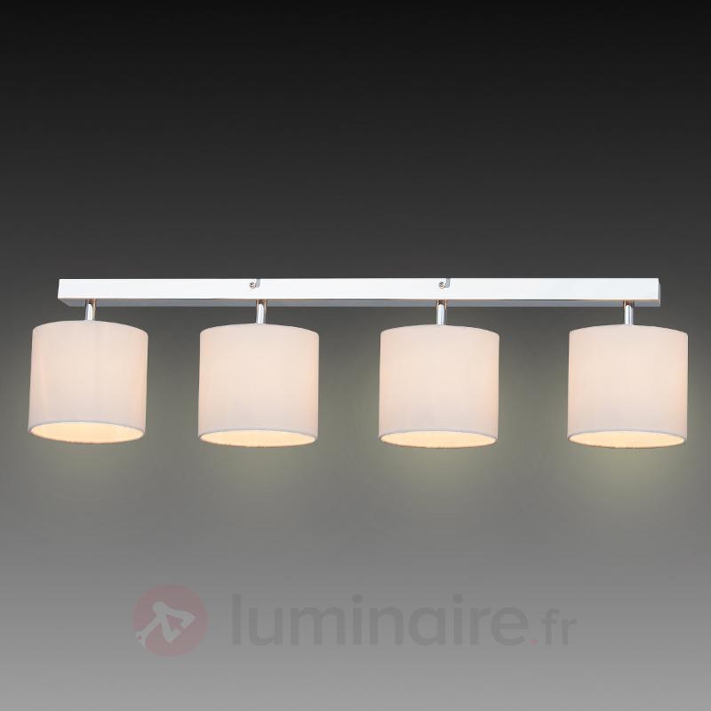 Plafonnier Sandra à 4 lampes abat-jour textile - Plafonniers en tissu
