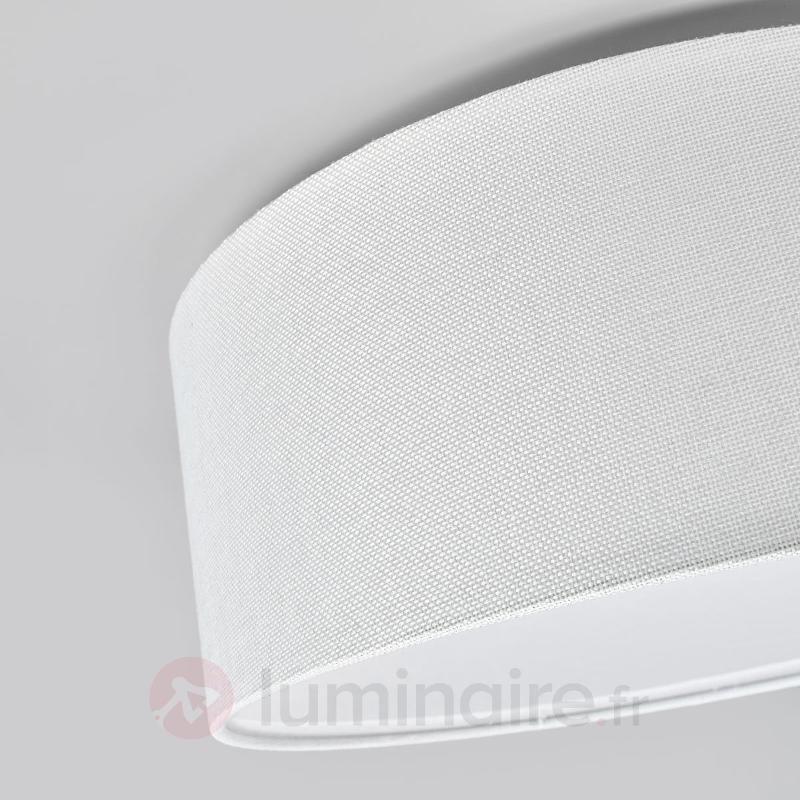 Plafonnier en tissu blanc Henrika - Plafonniers en tissu