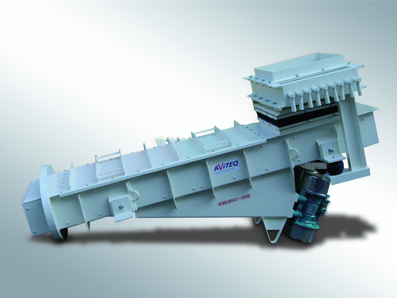 Trough feeder - Discharging, feeding, conveying - Conveying technology