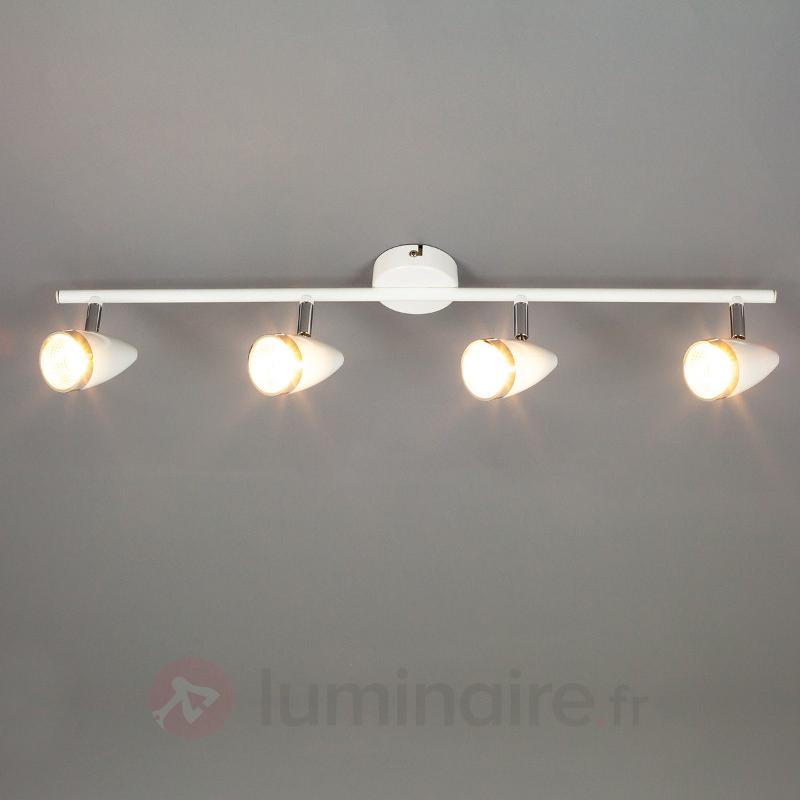 Plafonnier LED Adea flexible à 4 lampes - Plafonniers LED