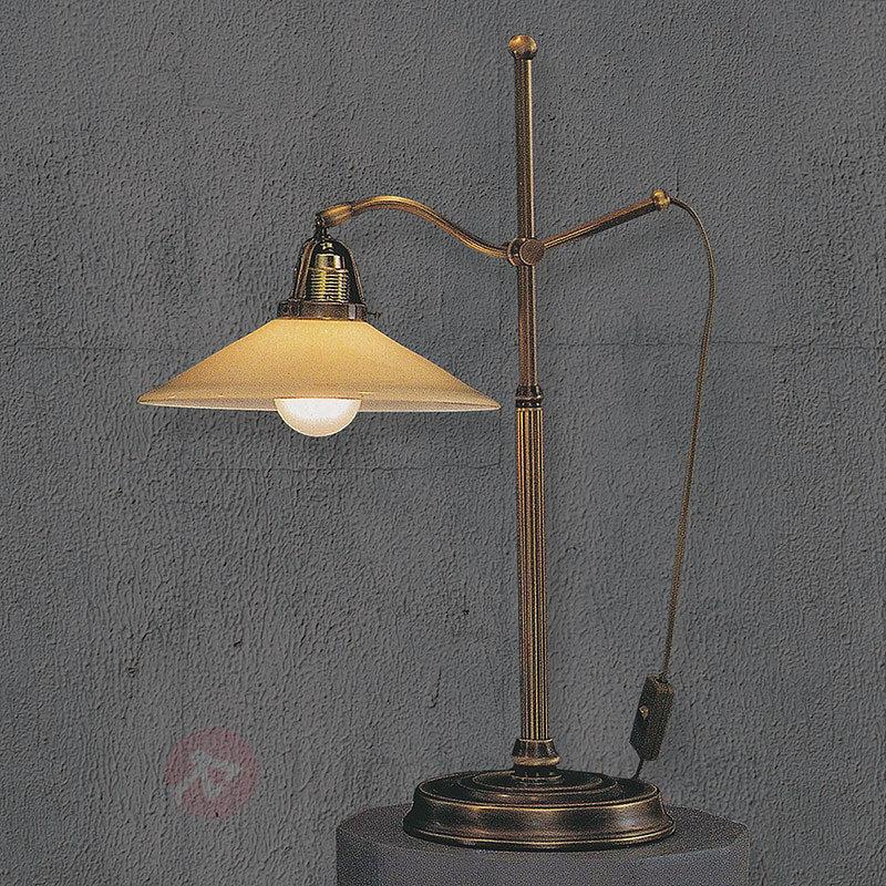 Lampe à poser Verdina avec verrerie champagne - Lampes à poser classiques, antiques