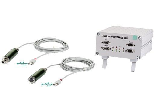 """单/多通道USB采集放大器 - 9206 - 便宜的""""即插即测""""设计, 通过PC USB端口轻松连接, 高达1200读数/秒的高速测量, 6线技术带来最高的精度"""