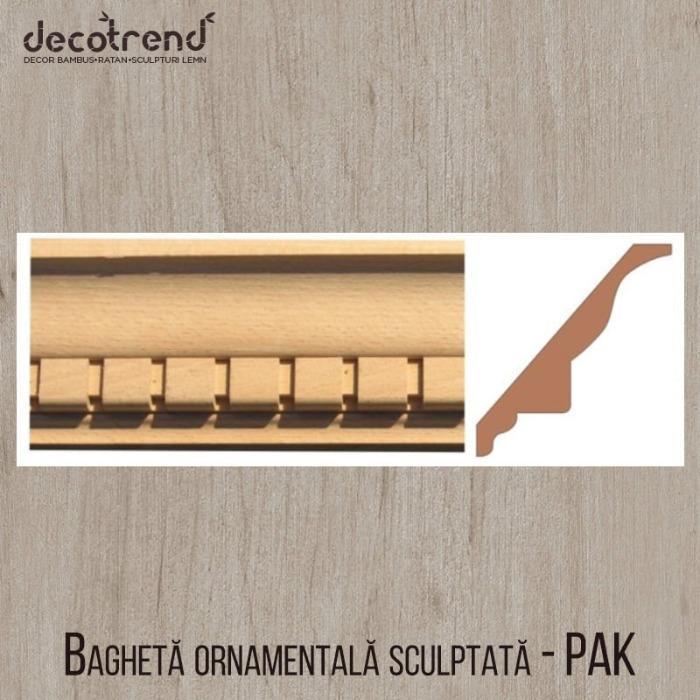 PROFILE DECORATIVE SCULPTATE (SIPCI ORNAMENTALE) – FAG – PAK - profile decorative pentru închidere (căntuire) margini pal melaminat