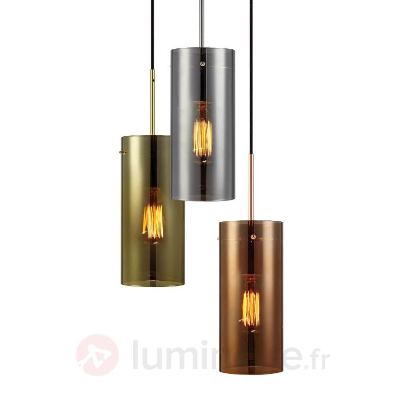 Suspension multicolore Storm à 3 lampes - Suspensions en verre