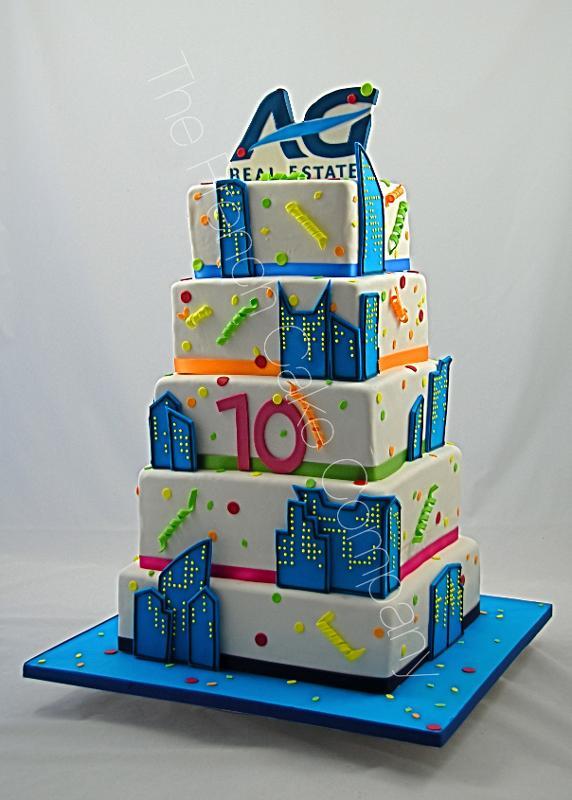 Gâteaux et Pièces Montées sur-mesure - Pièce montée anniversaire société