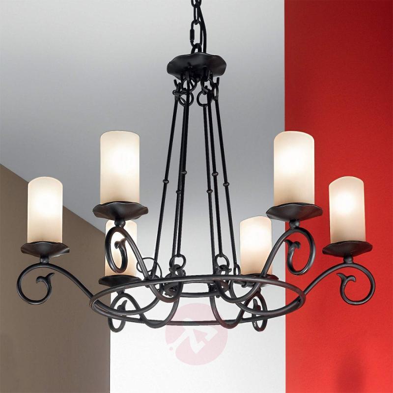Bente Chandelier Rustic Six Bulbs - design-hotel-lighting