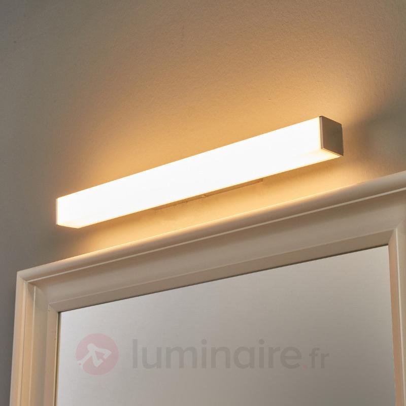 Applique LED de salle de bain Lenn rectangulaire - Salle de bains et miroirs