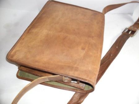 Leather Messenger Bag - Leather  Messenger Full flap