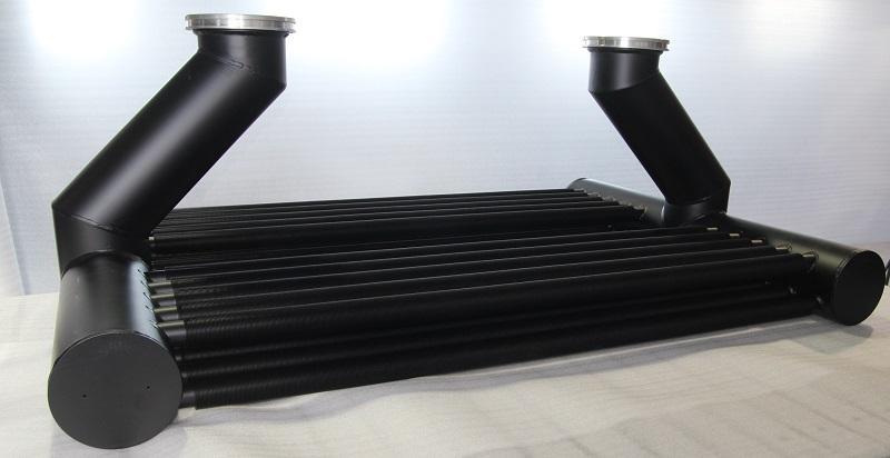 Aluminium heat exchangers for generator circuit breaker, - constructions for energy