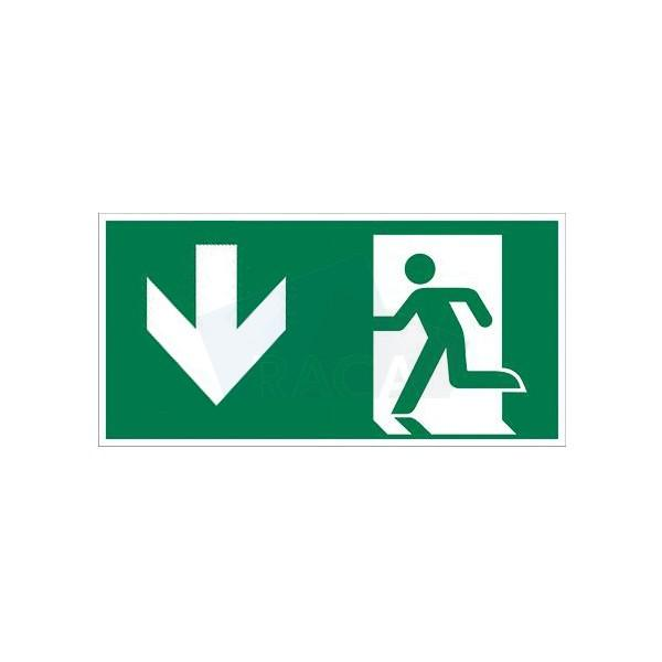 Taurac emergency lighting legend for exit sign  - E1D14501 /