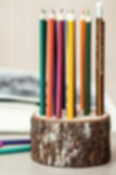 WOODEN DECORATIONS - WOODEN PENCIL HOLDER