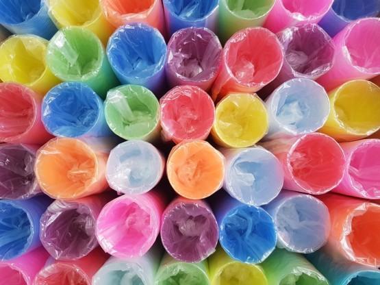 """Пластиковые одноразовые стаканы """"Ассорти"""", 200 мл, - 100 шт/уп"""