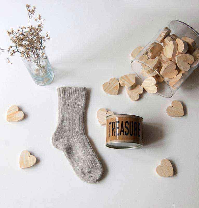 """Hygge socks """"WARM FEET - WARM HEART"""" - wool socks"""