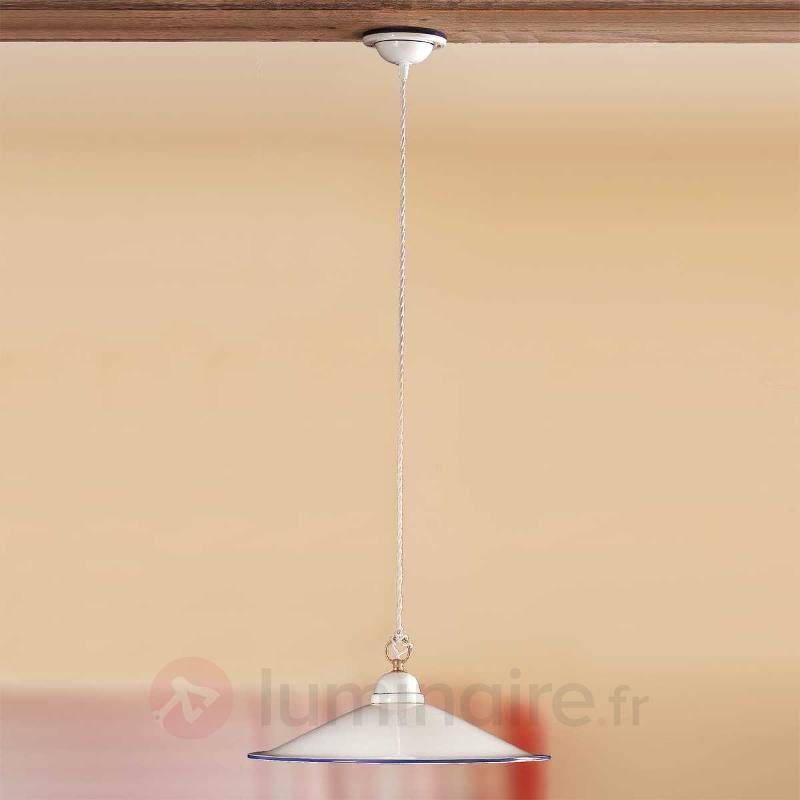 Belle suspension PIATTO en céramique - Suspensions rustiques