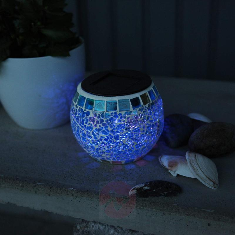 Solar mosaic light Brilliant with RGB LED - outdoor-led-lights