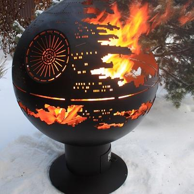 """Fire pit Orb """"The Death Star"""" -"""