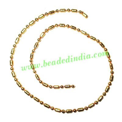 Gold Plated Metal Chain, size: 2mm, approx 26.1 meters in a  - Gold Plated Metal Chain, size: 2mm, approx 26.1 meters in a Kg.