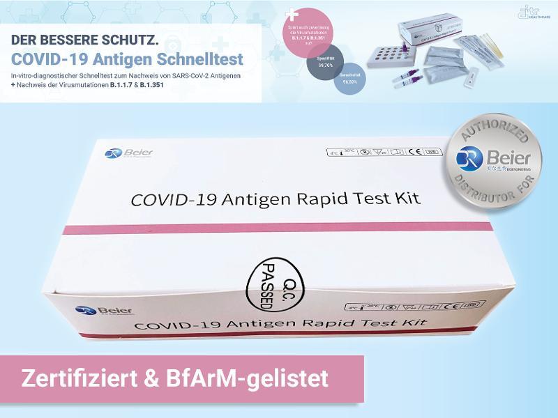 Beier Covid-19 Antigen Rapid Test Kit - In vitro diagnostic rapid test for the detection of SARS-CoV-2 antigens.