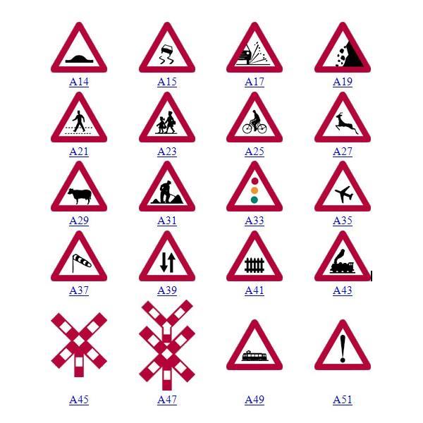 Panneau de signalisation de tous les types - null