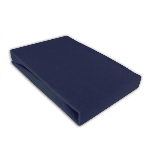 Jersey Spannbettlaken 90-100 x 190-200 cm Farbe: Marine - null