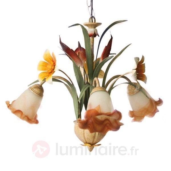 Suspension FLORA style florentin à 3 lampes - Suspensions style florentin