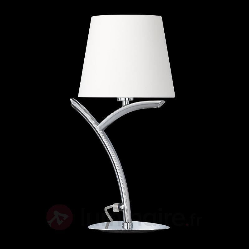 Lampe à poser classique Y avec abat-jour en tissu - Lampes à poser en tissu