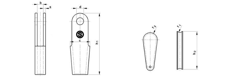Rope sockets - Rope sockets similar to DIN EN 13411-7