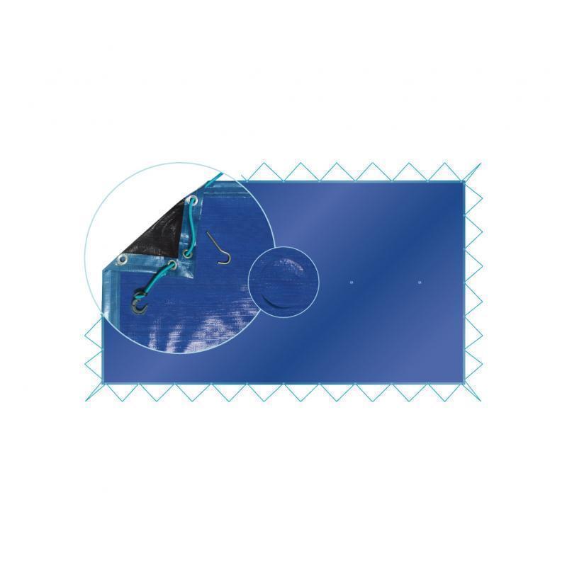 Couverture d'hivernage ecold pour piscine rectangulaire - ecold7.7x4.2