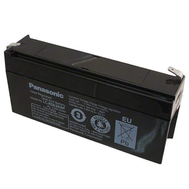 BATTERY LEAD ACID 6V 3.4AH - Panasonic - BSG LC-R063R4P
