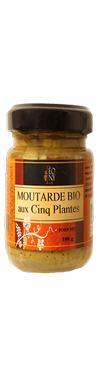 Moutarde de Dijon BIO aux 5 Plantes  - LEONY