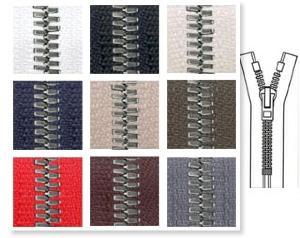 Zip 5 Excella © laiton CDF fixe (Standard - 12 cm - Noir) - Fermetures à glissière