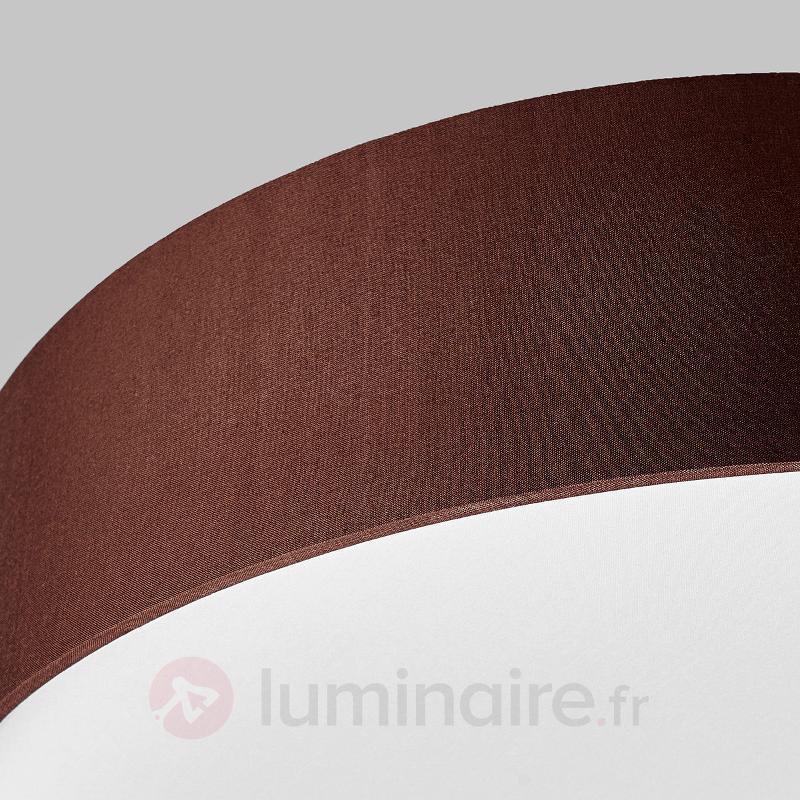 Plafonnier en tissu Sebatin à LED E27, brun clair - Plafonniers en tissu