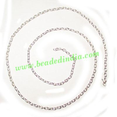 Silver Plated Metal Chain, size: 0.5x2mm, approx 151.9 meter - Silver Plated Metal Chain, size: 0.5x2mm, approx 151.9 meters in a Kg.