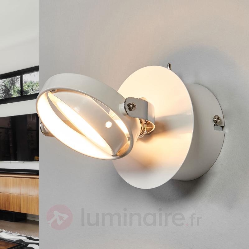 Applique LED circulaire Marisa en blanc - Appliques LED