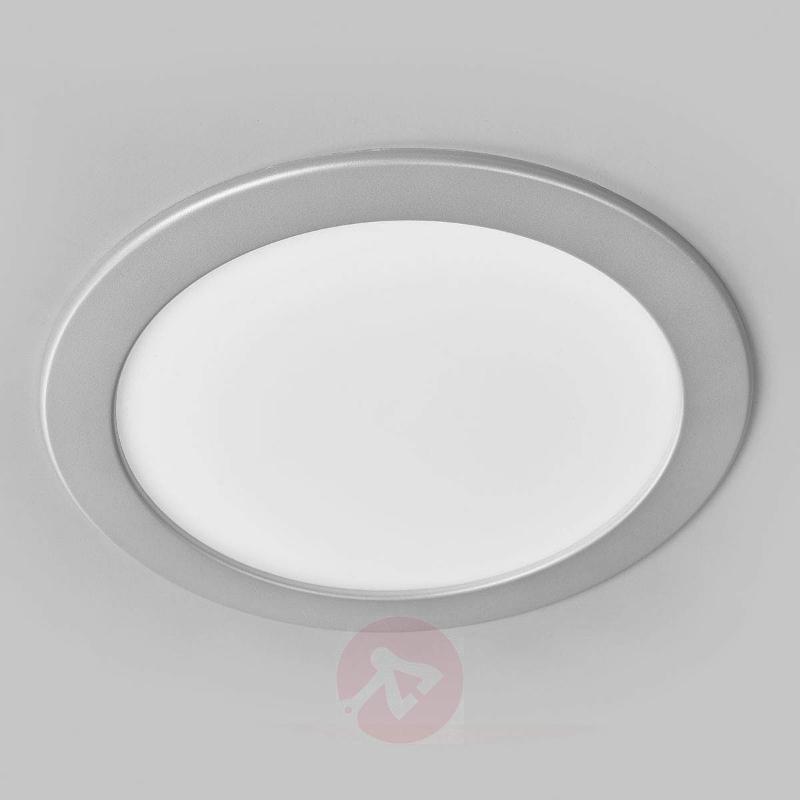 Bright LED recessed light Joki, IP44 - Recessed Spotlights