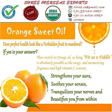 Organic Sweet Orange Oil - USDA Organic
