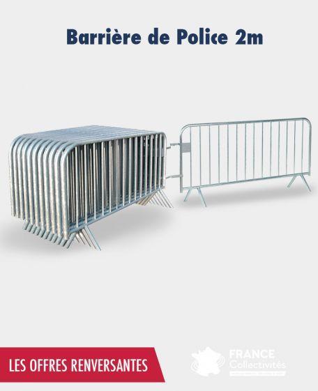Promo barrière de police 2 m - Prix renversants