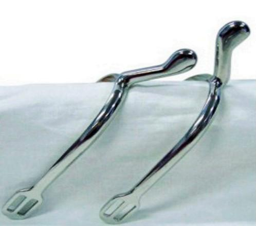 Stainless steel horse spur with knob end  - stainless steel P.O.W spur  for horse riding/horse racing