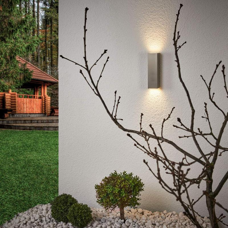 Stainless steel LED outdoor wall light Jana - stainless-steel-outdoor-wall-lights
