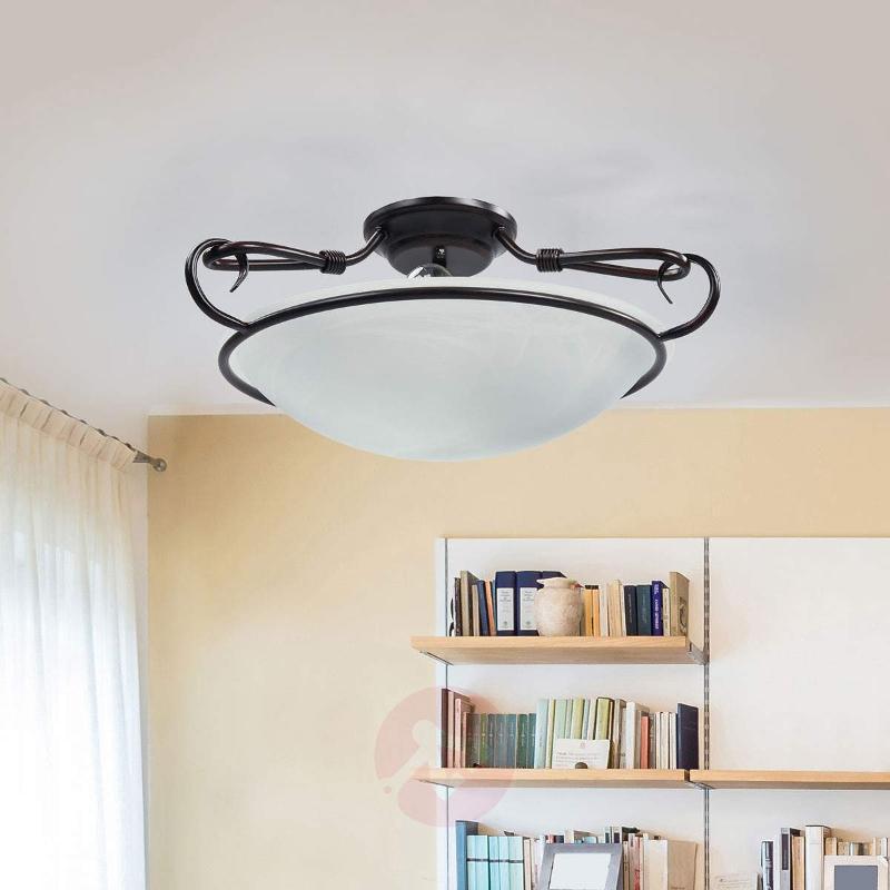 Decorative Como ceiling light, antique rust colour - Ceiling Lights