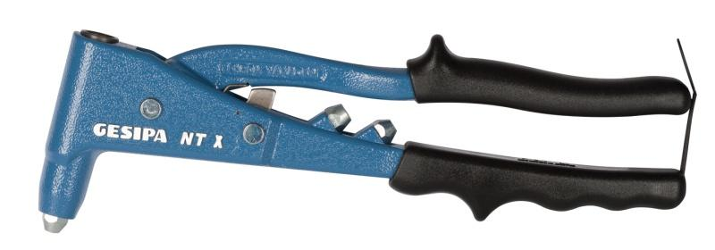 NTX-F (Blind rivet hand tool) - Blind rivet hand tool: Intermediate lever system reduces the force required