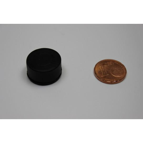 Neodymium disc magnet 16,8x9,4mm, N45, black rubber coated - Disc