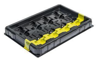 Tiefzieh-Verpackungen - Ladungsträger mit Farbkennzeichnung
