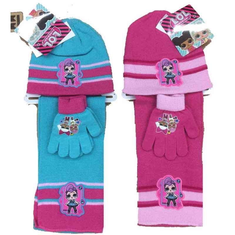 Wholesaler cap gloves and scarf kids LOL Surprise - Cap Gloves Scarf