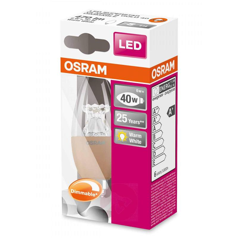 E14 6W 827 LED candle bulb Superstar gold dimmable - light-bulbs